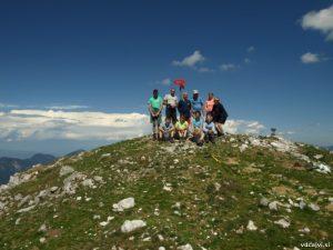 Osvojili smo Veliki vrh (2088m).